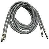 [Hand made 120cm Long Men's Round 3M Reflective Shoealces Shoestrings of Polester With Metallic Head