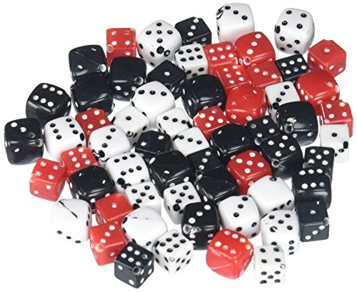 Cousin Fun Packs 62-Piece 8mm-10mm Dice Beads