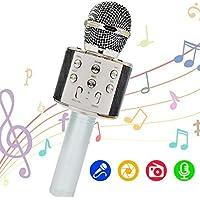 OLEO Micrófono Inalambrico Karaoke, Micrófono Portátil Bluetooth, Micrófono Karaoke con Altavoz para Cantar, entradas…