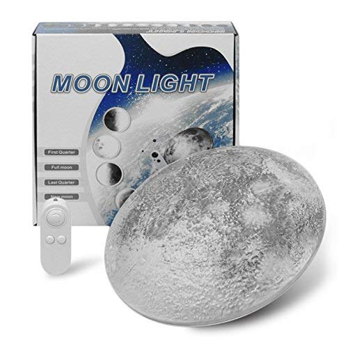 LED Wall Mount Night Moon Lamp with Remote Control ()