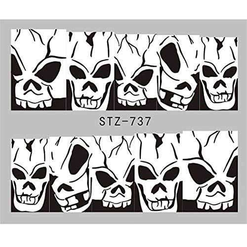 Gangglis Sticker Halloween Horror Nail Nail Design Decoration (E) ()