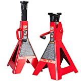 Torin Big Red Steel Jack Stands: 6 Ton (12,000 lb) Capacity, 1 Pair
