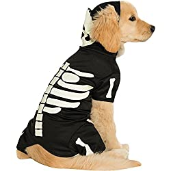 Rubie's Costume Co Pet Costume, Medium, Glow In The Dark Skeleton Hoodie