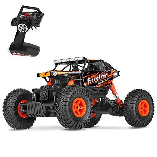 Theefun 1:18 RTR RC Rock Crawler 2.4Ghz Remote Control Car 4WD Off Road RC Monster Truck (Remote Control Road Monster Off)