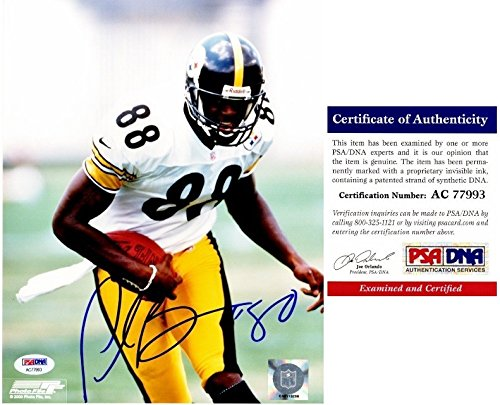 (Plaxico Burress Autographed Signed Pittsburgh Steelers 8x10 Photo - PSA/DNA Authentic)