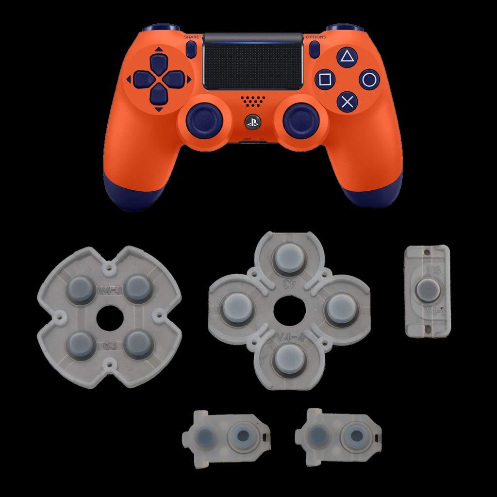 Gwxevce para Playstation 4 Controlador PS4 Almohadillas de Goma de Silicona conductoras para 4 JDS JDM 030 D Botones de Almohadilla