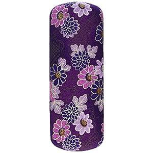 Japanese Floral Print Flowers Purple Eyeglasses / Sunglasses Hard Shell Case