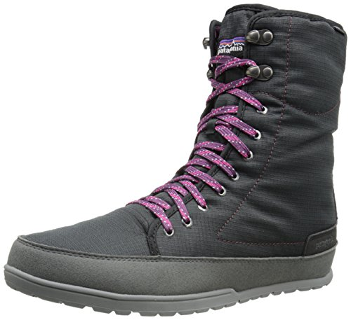 Patagonia Women's Activist Puff High Waterproof Insulated Boot,Black/Dark Currant,6 M US