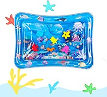 Tummy Time Baby Water Mat Inflatable Baby Play Mat Activity Center for Infant Baby Toys 0 to 24 Months, Baby Gifts for...