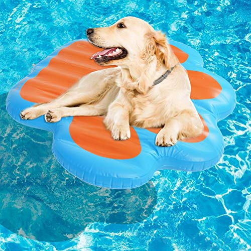 KOOLTAIL Paw Dog Pool Float Large Inflatable Raft for Pets