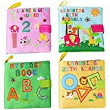 Tango Baby Books,Early Learning Development Toy Babies - ABC, 123, Shapes & Animals Toddler Peekaboo Flap, Interactive Boy Girl,