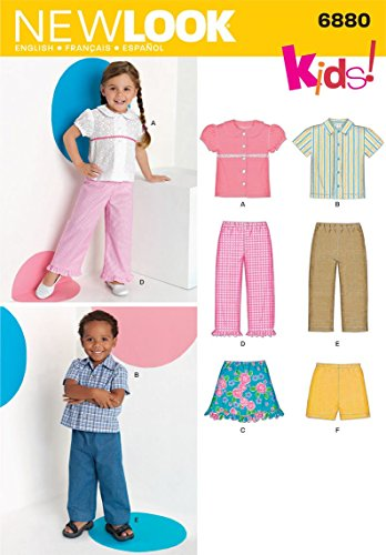 (New Look Sewing Pattern 6880 Toddler Separates, Size A (1/2-1-2-3-4))