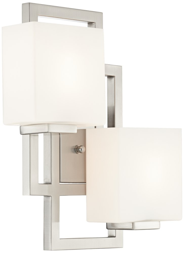 Lighting on the Square 15 1/2''H Brushed Steel Wall Sconce