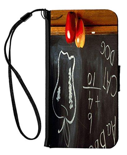 Rikki Knight - Funda con Tapa para iPhone 6 y 6S, Diseño de Perro en caseta con Gato, Color Negro