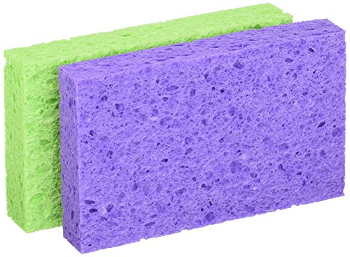 3m O-Cel-O Handy Utility Kitchen/Dish Sponge StayFresh Resists Bacterial Odors (1 pack of 2)