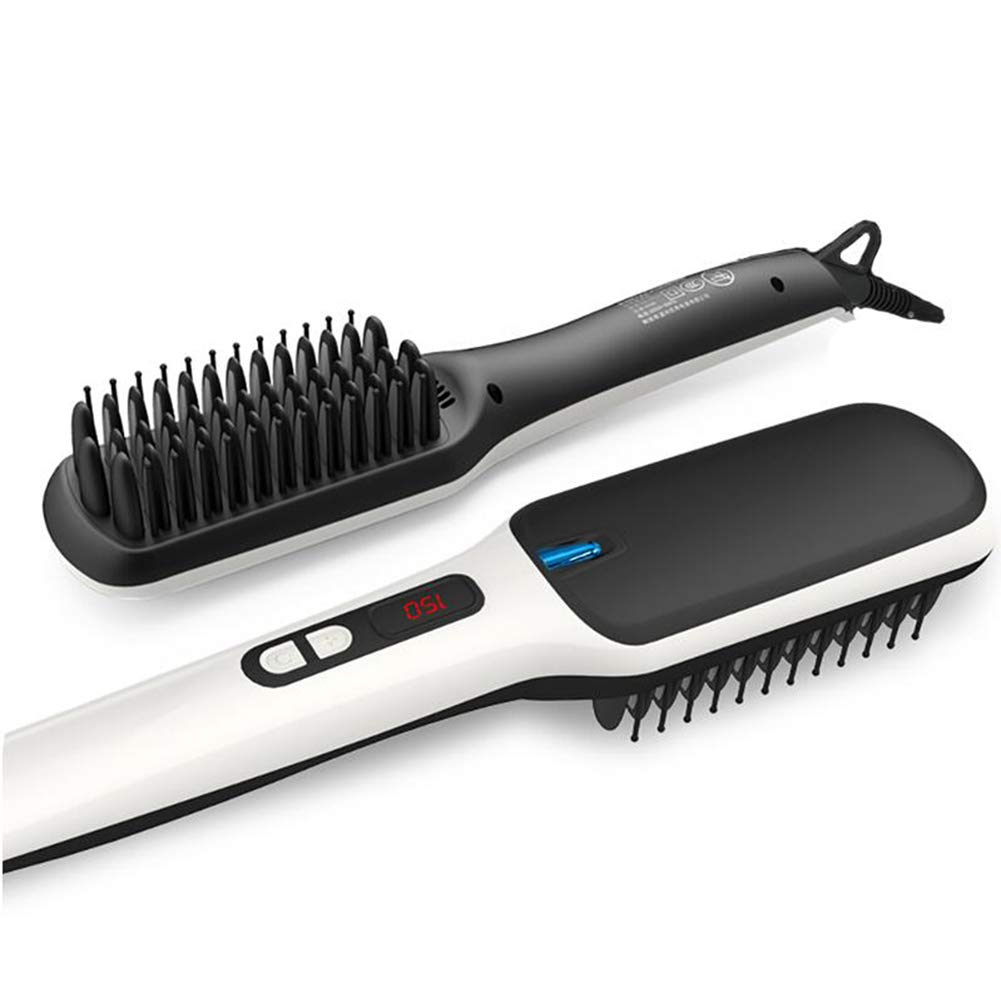 CHERRIESU Negative Ionic Hair Straightening Brush Ceramic Detangling Comb Anion Digitial LED Hair Care, Fast Heating, Anti-Scald Hair Brush 220V by CHERRIESU (Image #1)