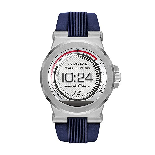 Michael Kors Access, Men's Smartwatch, Dylan Stainless Steel with Blue Silicone, MKT5008 (Android Mens Silver Jet)
