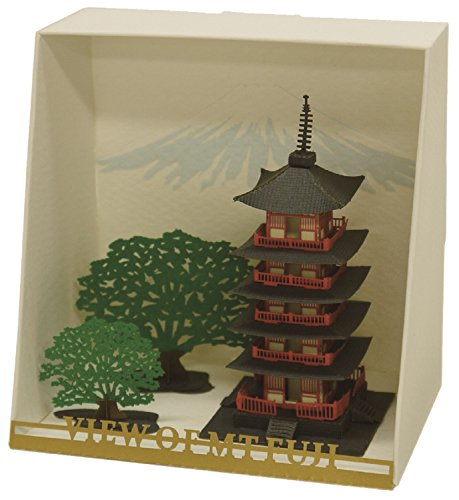 Paper Nano Five Stories Pagoda Building (Pagoda Japan)