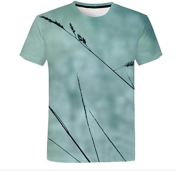 FASHION Uomo Casual Stampa FUNNY Tees Camicia Manica Corta T Shirt Camicetta Tops
