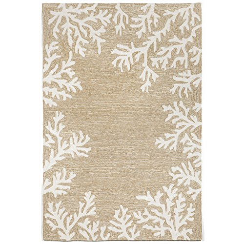 Liora Manne CA071A71612 Monaco Shell Border Rug, Indoor/Outdoor, 7'6