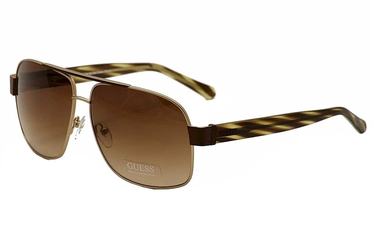 Guess Sunglasses - 6741 / Frame: Gold with Brown Stripe Temples Lens: Brown Gradient