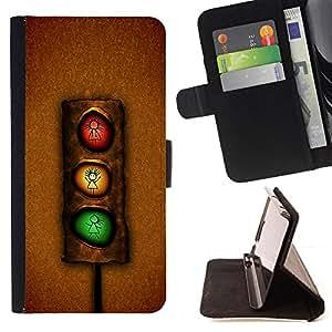 Jordan Colourful Shop - Funny Stoplight For Samsung Galaxy S5 Mini, SM-G800 - < Leather Case Absorci????n cubierta de la caja de alto impacto > -