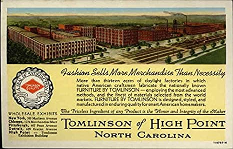Tomlinson Furniture Factory High Point North Carolina Original
