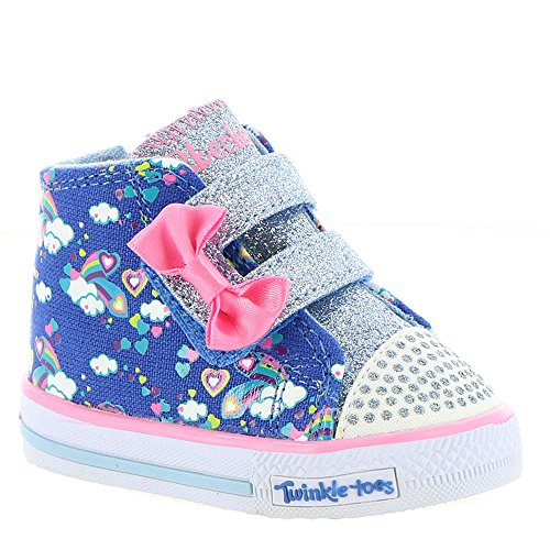 Skechers Twinkle Toes Shuffles-Lil Wanderer Girls' Infant Boot 1 M US Infant Hot Pink-Black