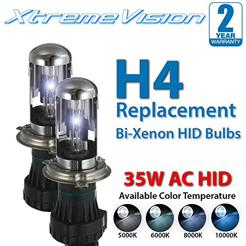 XtremeVision AC HID Xenon Replacement Bulbs - Bi-Xenon H4/9003 4300K - Bright Daylight (1 Pair) - 2 Year Warranty