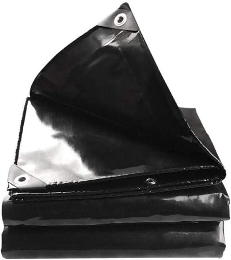 DALL 防水シート600 G/M 2屋外両面防水日焼け防止厚みのある折りたたみ式引き裂き抵抗 (Color : 黒, Size : 4×5m) 黒 4×5m