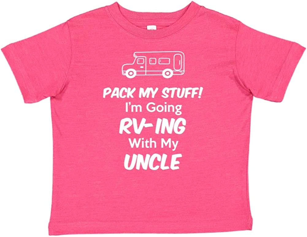 Toddler//Kids Short Sleeve T-Shirt Pack My Stuff Im Going RV-ing with My Uncle