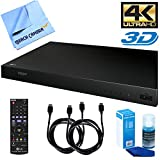 LG UP870 4K Ultra-HD Blu-Ray Player with 3D Capabilities with Screen Cleaning Kit, 2 (Two) Six Foot HDMI Cables, and a Microfiber Cleaning Cloth