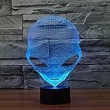 3D Alien Illusion LED Night Light,WONFAST 7 Colors