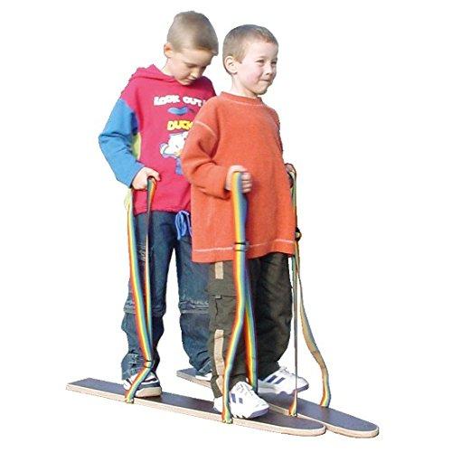 Pedalo® Sommerski Hand-Fußschlaufe 80 cm I 2 Spieler I Koordination I Rasenski I Wiesenski I Kindergarten I Teamspiel