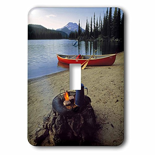 Toggle Light Switch Cover - Danita Delimont - Camping - Oregon, Sparks Lake. Camping near Bend - US38 RER0030 - Ric Ergenbright - Light Switch Covers - single toggle switch (lsp_94002_1)