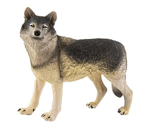 Safari Ltd. Wildlife Wonders - Wolf - Realistic Hand Painted Toy Figurine Model - Quality Construction from Safe and BPA Free Materials - for Ages 3 and Up - Large