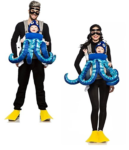 SCUBA Diver and Octopus Mommy & Me (Baby And Parent Halloween Costumes)
