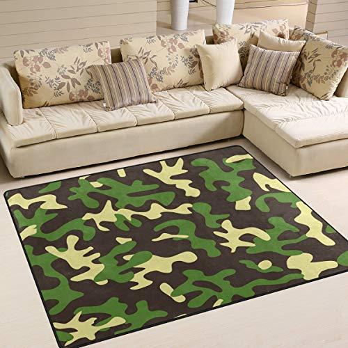 Ars Language Area Rugs Vintage Camouflage Realtree Nursery Rugs for Kids Bedroom Livingroom Non-Slip Floor Rugs Carpet 7' x 5'