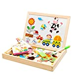 Jian E -// Multi-Function Magnetic Puzzle Baby Educational Toys Enlightenment Early Childhood 1-3-6 Years Old Boys and Girls Toys Baby Gifts Wooden Intelligence Spelling Music /-/ (Color : D)