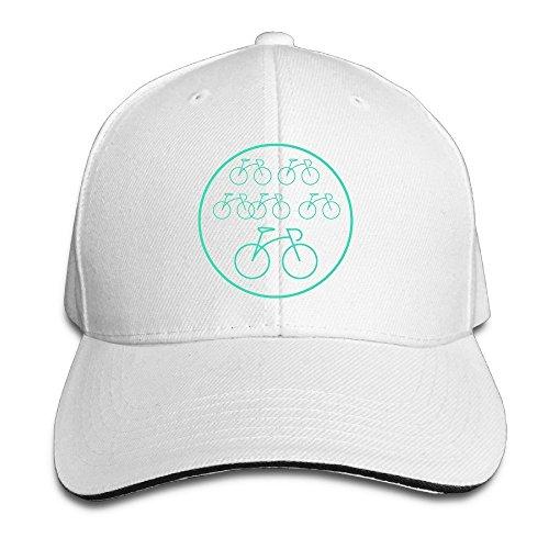 MaNeg Bicycle Sandwich Peaked Hat & Cap