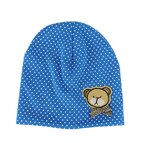 Baby Boys Girls Toddler Cute Bear Cotton Cap Bow Hat (Halloween Costumes 3-6 Months Uk)
