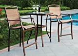 Mainstay* Premium Outdoor Bistro Sets Patio Furniture Set Table 3 Piece Bar Height Seating