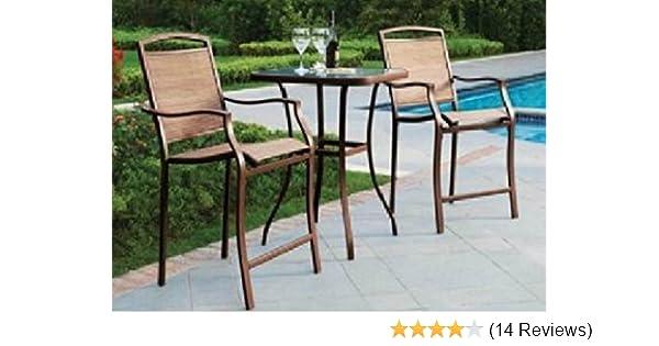 Amazon Com Premium Outdoor Bistro Sets Patio Furniture Set Table 3
