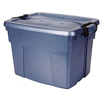 Rubbermaid 22 Gallon Blue Roughneck Stackable Storage Totes, Perfect For  Storing Toys, Clothing
