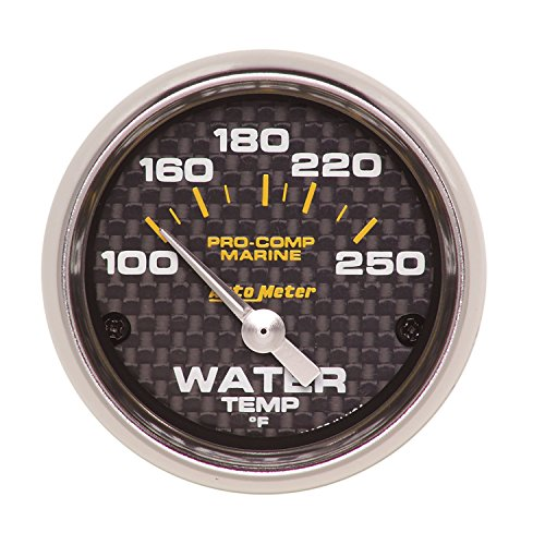 (Auto Meter AutoMeter 200762-40 Gauge, Water Temp, 2 1/16