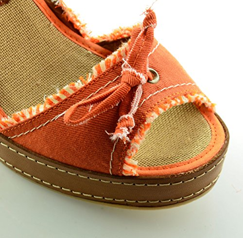Arancione Mtbali Donna Sandalo San Modello Con Diego Zeppa qr0vrt