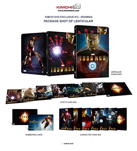 IRON MAN [3D Blu-ray+2D Blu-ray KIMCHIDVD Steelbook Lenticular - Iron Man Steelbook