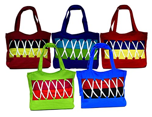 10pc Big Jhola Bags Hand Made Long Purse Boho Gypsy India Wh