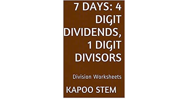 Amazon.com: 7 Division Worksheets with 4-Digit Dividends, 1-Digit ...