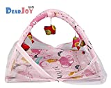 DearJoy Baby Bedding Set / Baby Bedding Set with Mosquito Net and Baby Play Gym with Mosquito Net (Pink Princess Print)